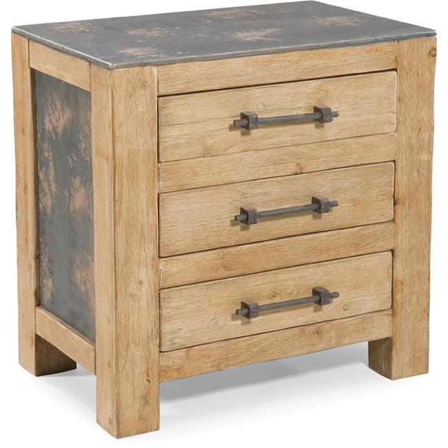 Aurelle Home  Natural Rustic End Table