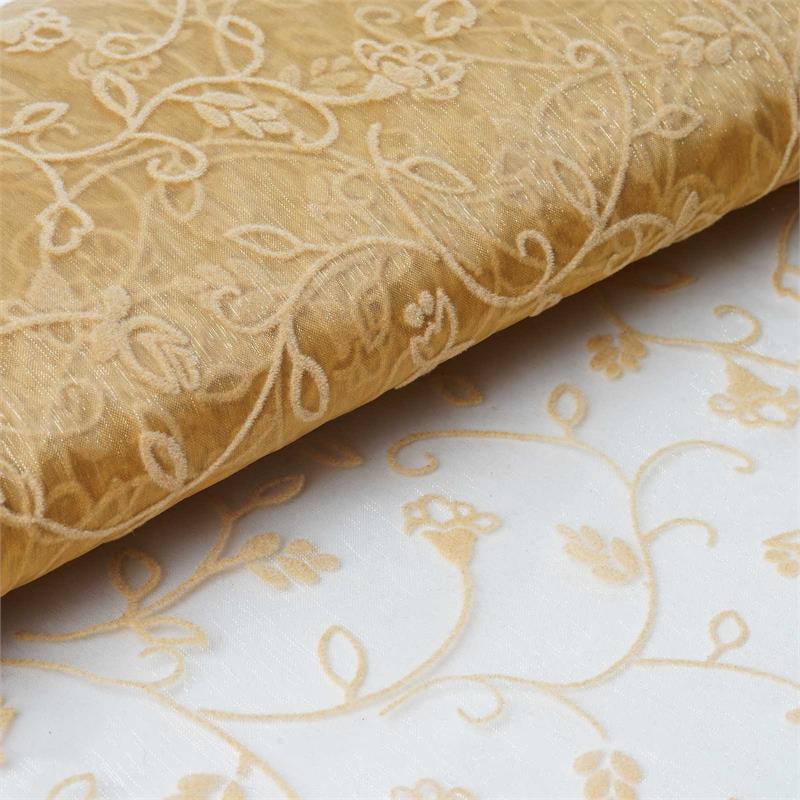 "BalsaCircle 54"" x 10 yards Embossed Sheer Organza Fabric Bolt Put-up - Sewing Crafts Draping Decorations Supplies"