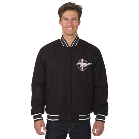 Mens Ford Mustang All Wool Reversible Jacket with Embroidered Emblems