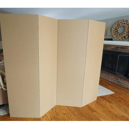 Privacy Room Divider - Kraft Cardboard Room Divider - Carpet Dividers