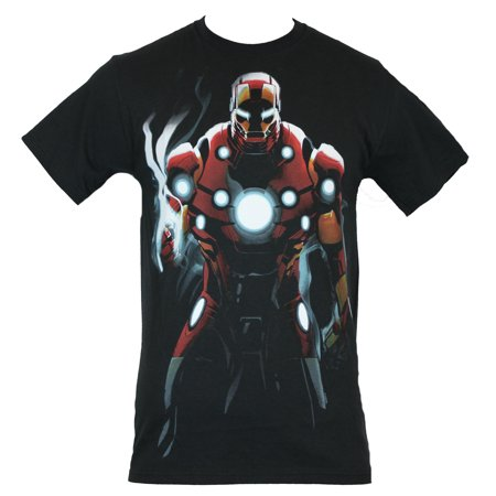 Iron Man (Marvel Comics)  Mens T-Shirt - Shadow Drenched Power