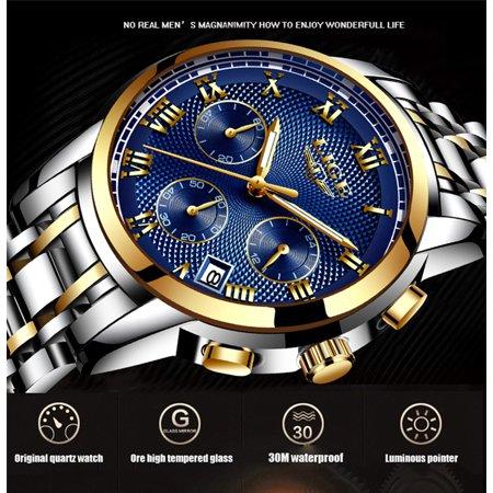 LIGE 9849 Quartz Man Watch Unique Fashion Sport Casual Brand Quartz Clock Luxury Stainless Steel Strap Waterproof Wrist Watch Relogio Masculino - image 3 of 7