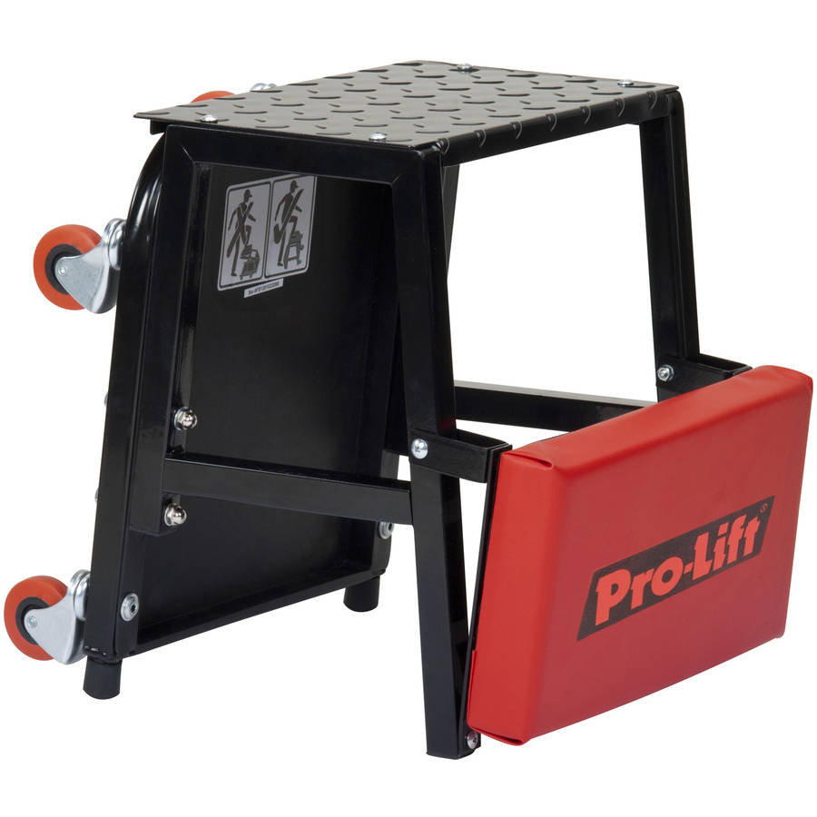 Pro-Lift C-2800 Grey Creeper Seat and Stool Combo, 300 lb. Capacity