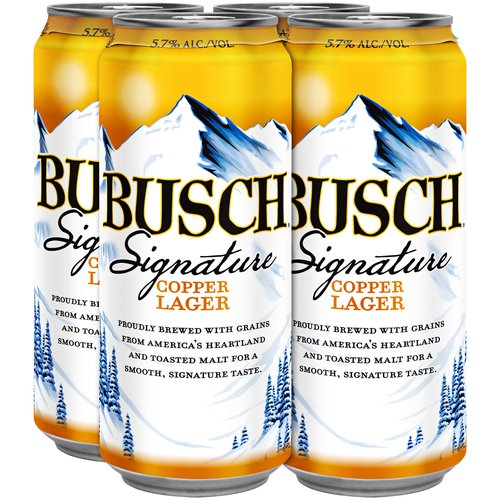 Busch Signature Copper Lager, 16 fl oz, 4 pack