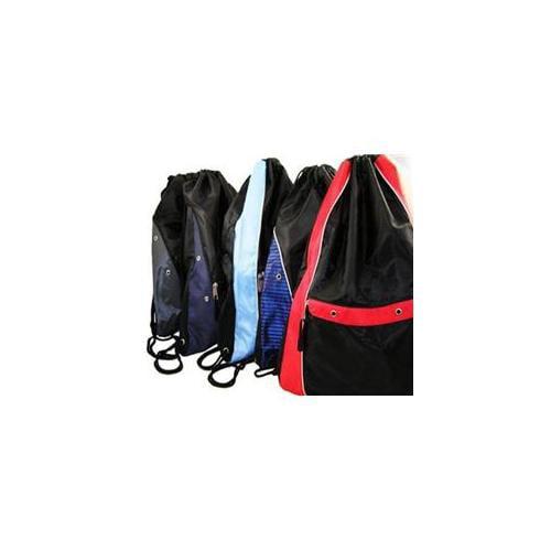 Bulk Buys Wholesale Nylon Deluxe Drawstring Backpack - Case of 12
