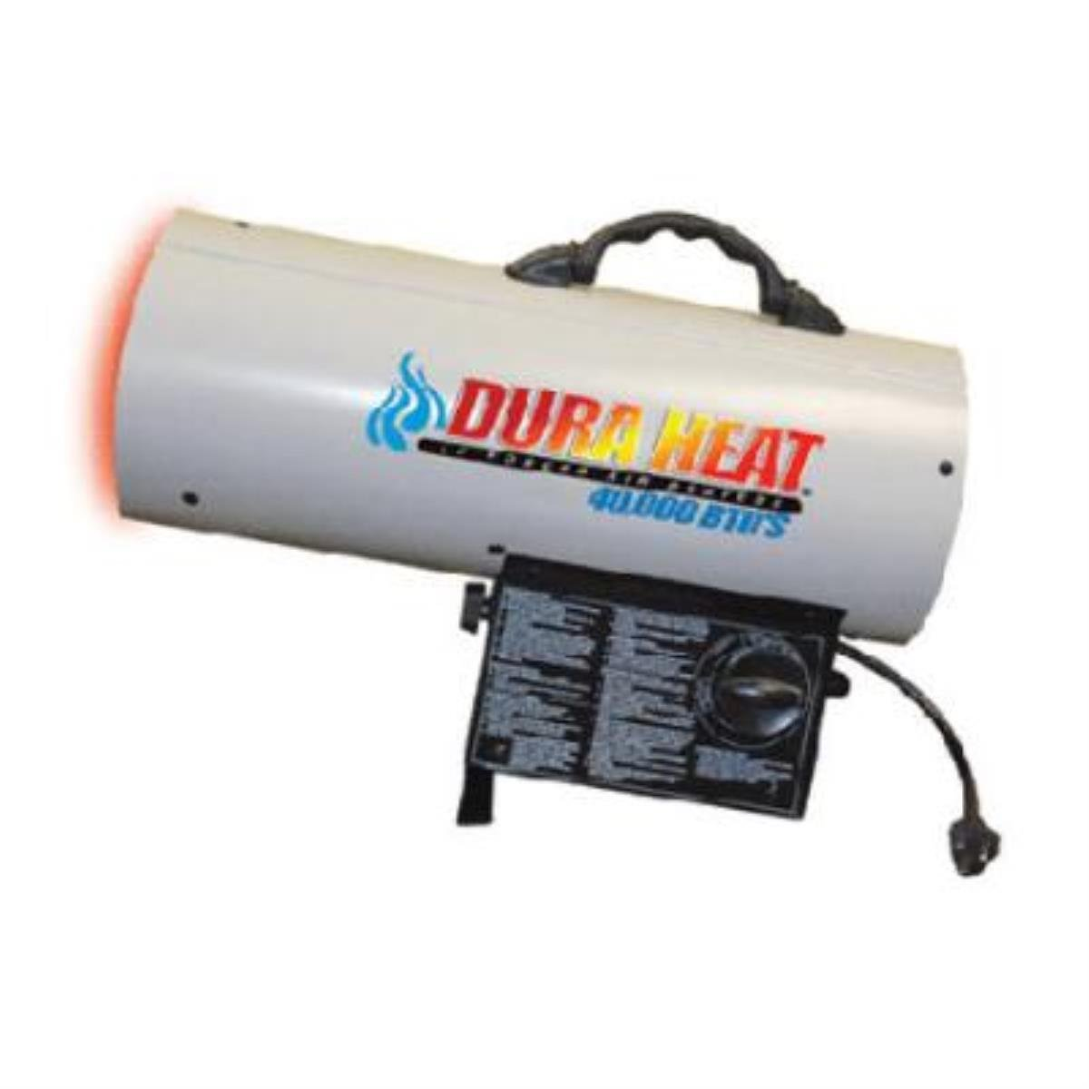 Forced Air Propane Heater, 40,000 Btu, Heats Up To 900 Square Feet, With Lp Regulator