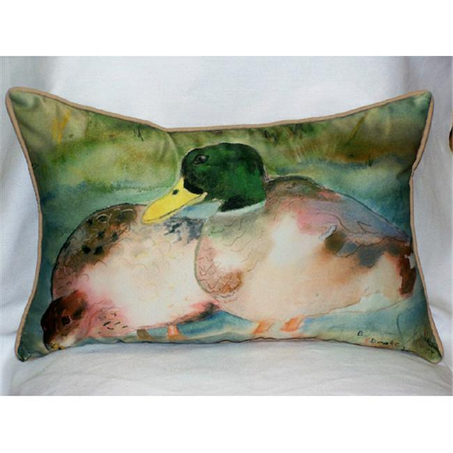 Betsy Drake HJ242 Mallards Art Only Pillow 15''x22''