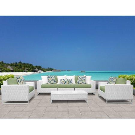TK Classics Miami 6 Piece Sofa Set with Cushions ()