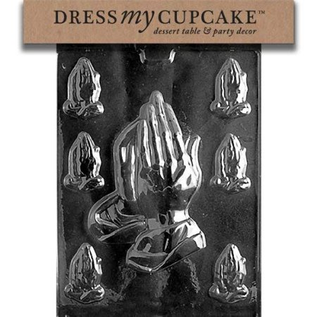 Dress My Cupcake DMCR031 Chocolate Candy Mold, Assorted Praying - Praying Hands Chocolate