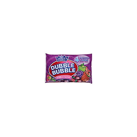 Dubble Bubble - Fruitastic Fruit Flavors Wrapped Bubble Gum 16 oz - 2 Pack (Bubble Gum Cigars)