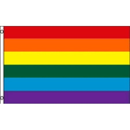 Rainbow Stripes Flag Gay Pride LGBT Banner Festival Event Pennant New 2x3 Sign for $<!---->