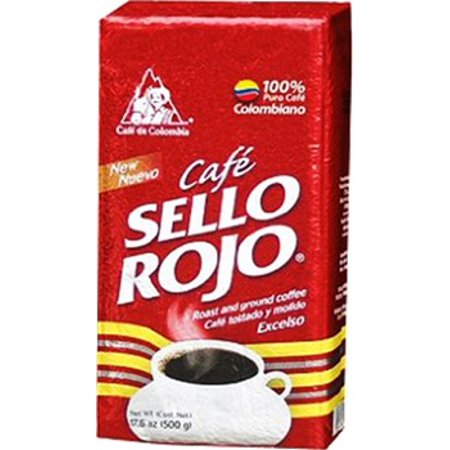 Cafe De Colombia Jersey (Cafe Sello Rojo 100% Colombian Coffee 17.6 oz)