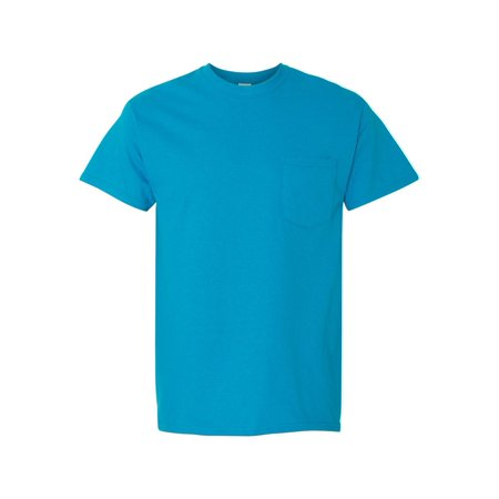 T-Shirts Heavy Cotton T-Shirt with a Pocket (Heavy Duty Cotton T Shirts With Pocket)