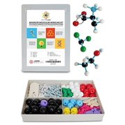 Molecular Model Kit with Molecule Modeling Software and User Guide - Organic, Inorganic Chemistry Set for Building Molecules - Dalton Labs 123 Pcs Advanced Chem Biochemistry Student Edition