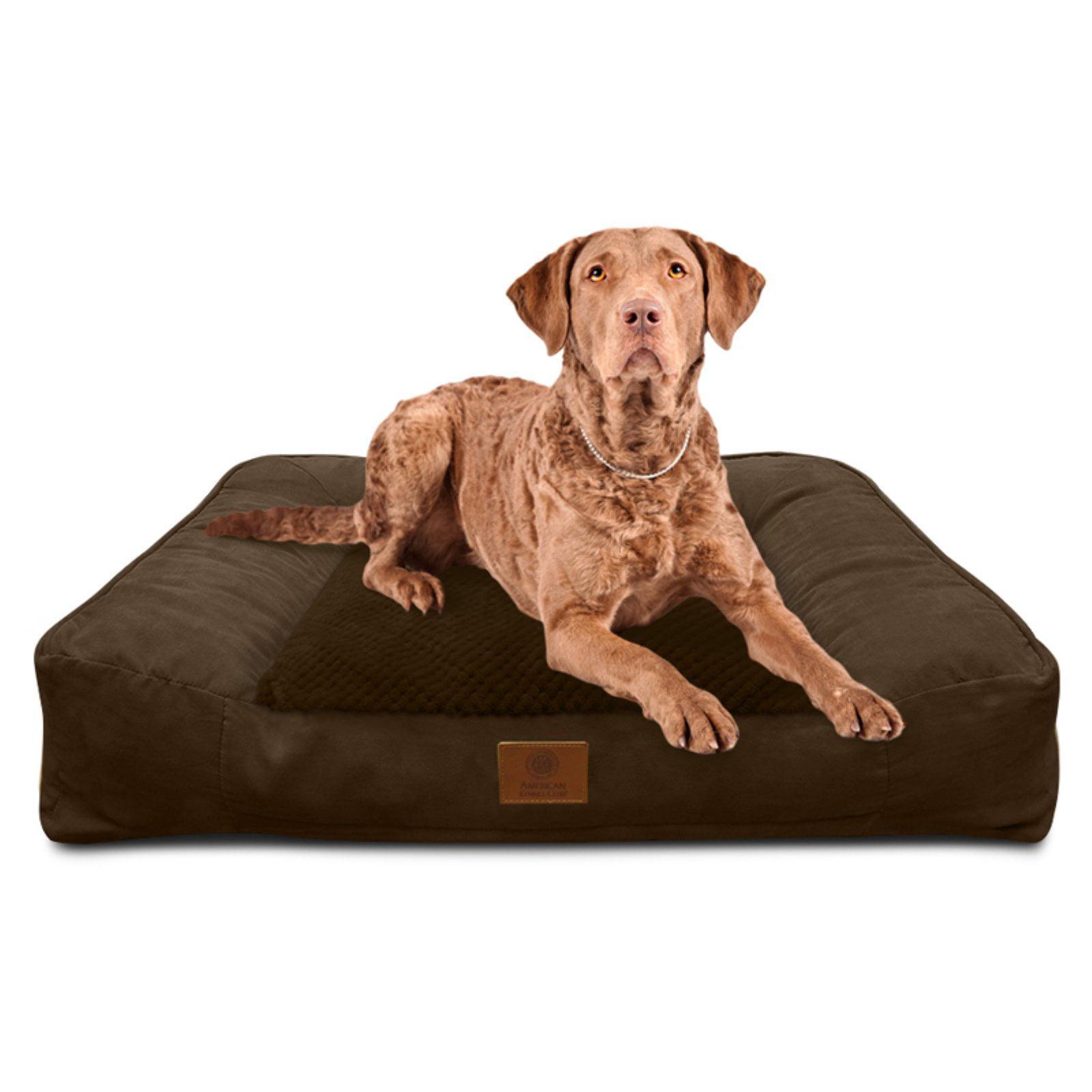 Fabulous American Kennel Club Memory Foam Sofa Bed Brown Creativecarmelina Interior Chair Design Creativecarmelinacom