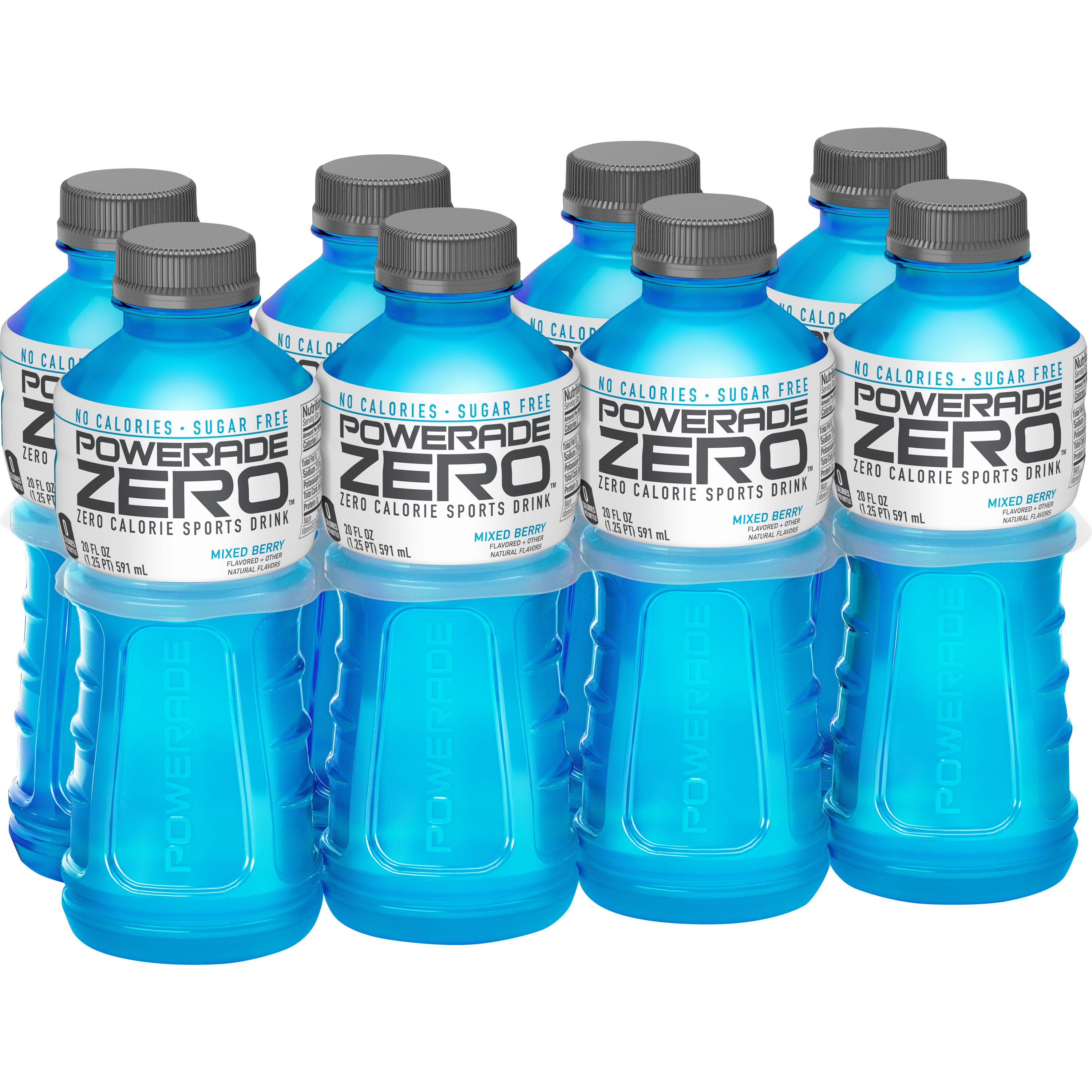 Powerade Sports Drink, Mixed Berry Zero, 20 Fl Oz, 8 Count