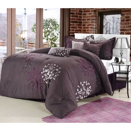 Chic Home Chelsia 8-Piece Embroidered Comforter Set