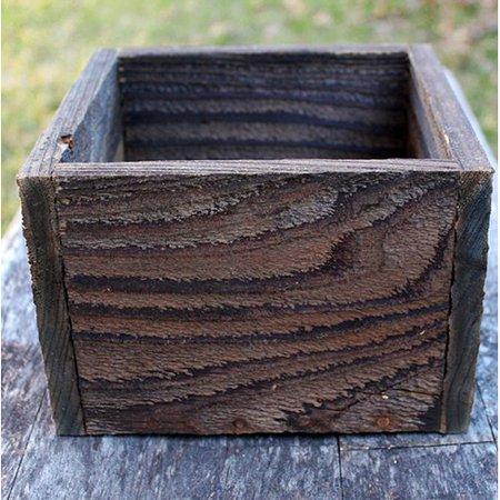 Reclaimed Heart Pine - Millwood Pines Alaska Square Reclaimed Planters Box