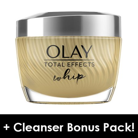 Olay Total Effects Whip Face Moisturizer, 1.7 oz + Daily Facial Dry Cleansing Cloths, 7
