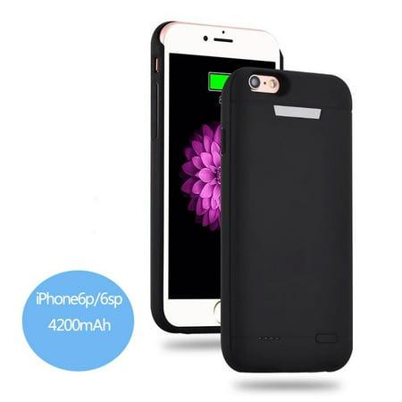 classic fit 49c21 bdb4d BIGFOX 4200mAh Battery Case iPhone 6_6s Plus Power Bank Case Super ...