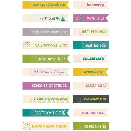 Be Merry And Bright Mini Tags 20/Pkg- ()