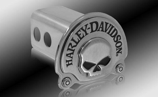 Skull 2 Metal Hitch Cover Harley Davidson Black Color Fill Willie G