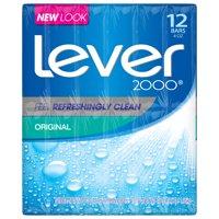 Lever 2000 Bar Soap Original 4 oz, 12 Bar