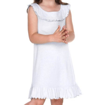 Kavio! Little Girls 3-6X Ruffle Collar Tank Dress White 3 (Little Girl Ruffle Dresses)