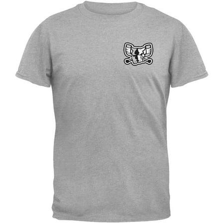 Richmond Riverdogs - Crest Print Mono Mad Dog Grey T-Shirt - Small New Mad Dog