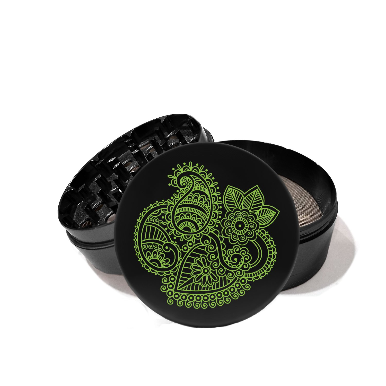 Paisley Henna Line Art - UV Printed Grinder