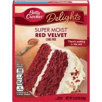 (2 pack) Betty Crocker Super Moist Red Velvet Cake Mix, 15.25 oz