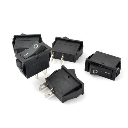 AC15A 250V  30A 125V Panel Mount Latching Action Rocker Switches 5pcs Panel Mount Rocker Switch