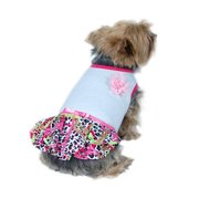 Pet Dog Puppy Cute Hot Leopard Dress Skirt Clothes Apparel L (Gift for Pet)