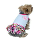 Pet Dog Puppy Cute Hot Leopard Dress Skirt Clothes Clothing Apparel L (Gift for Pet)