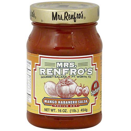 Mrs. Renfro's Medium Hot Mango Habanero Salsa, 16 oz (Pack of 6)