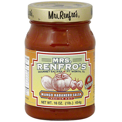 Mrs. Renfro's Medium Hot Mango Habanero Salsa, 16 oz (Pack of 6)