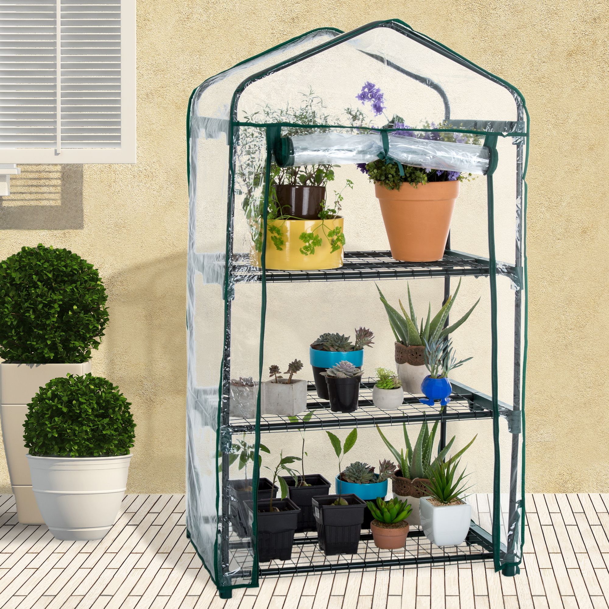 Mini Greenhouse with Cover by Pure Garden