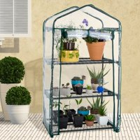 Pure Garden - 3-Tier - Mini Portable Greenhouse w/ Zippered Cover