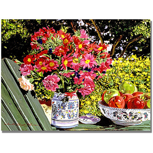 """Trademark Art """"Apples and Flowers Canvas Wall Art by David Lloyd Glover"""