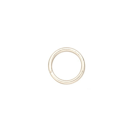 - 10mm Platinum-Finished Brass Split Rings With 1mm Wire Sold per pkg of 100