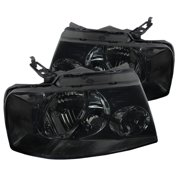 Spec-D Tuning For 2004-2008 Ford F150 Euro Style Headlights Smoke Pair W/ Clear Reflector 2004 2005 2006 2007 2008 (Left+Right)
