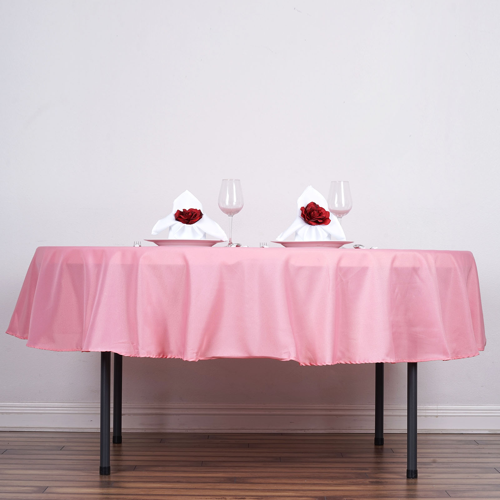 """BalsaCircle 90"""" Round Polyester Tablecloth for Party Wedding Reception Catering... by BalsaCircle"""