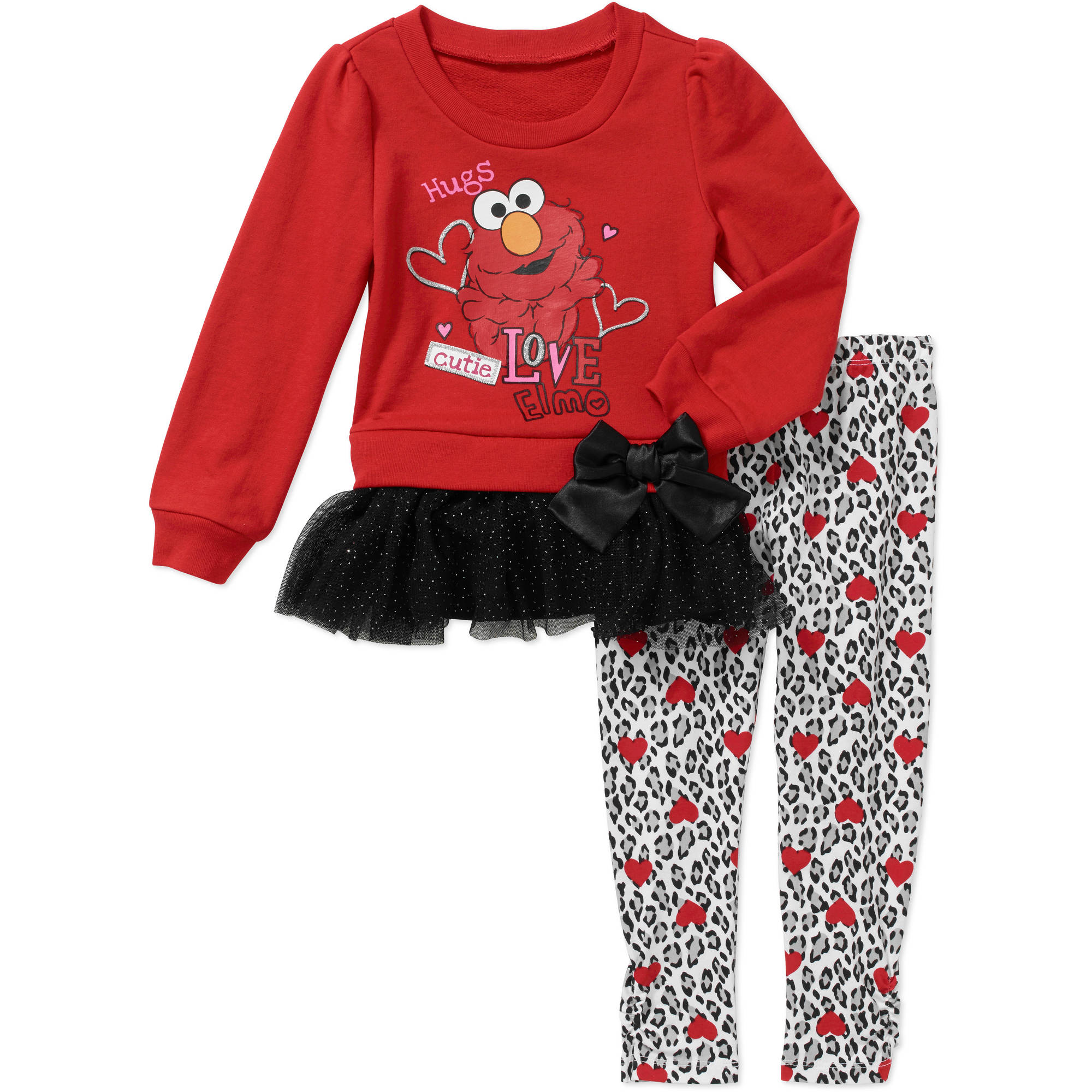 Elmo Baby Toddler Girls' Tunic and Leggings Outfit Set