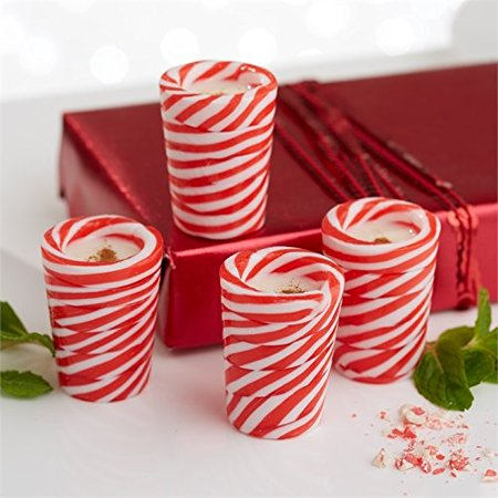 Candy Shot Glasses (Candy Cane Shot Glasses, Serve Drink & Eat By Twos)