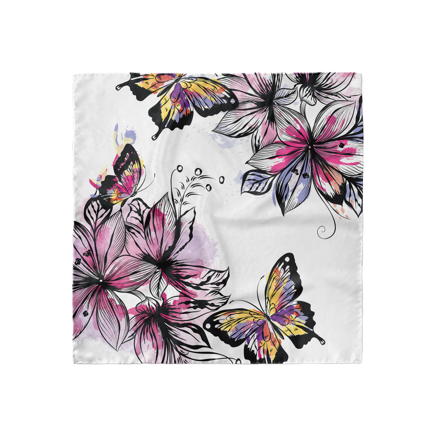 Hijab Scarf Butterflies Ambesonne Pale Pink Headscarf