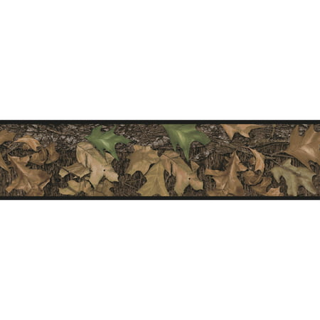 RoomMates Mossy Oak Camouflage Peel and Stick Border](Paw Print Border)