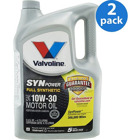 Valvoline Synpower 10w 30 Full Synthetic Motor Oil 5 Qt