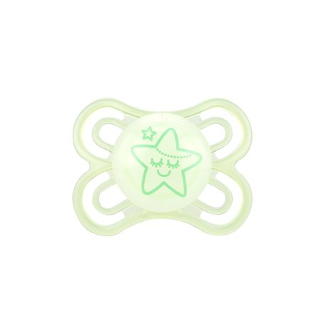 MAM Glow In The Dark Pacifiers, Baby Pacifier 0-6 Months, Best Pacifier for Breastfed Babies, Premium Comfort and Oral Care 'Perfect' Collection, Unisex,