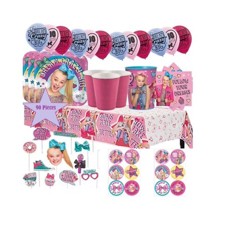 Steelers Party Decorations (JoJo Siwa Mega Birthday Party Kit For 16 - 90 plus pc w/ Tableware Decorations)