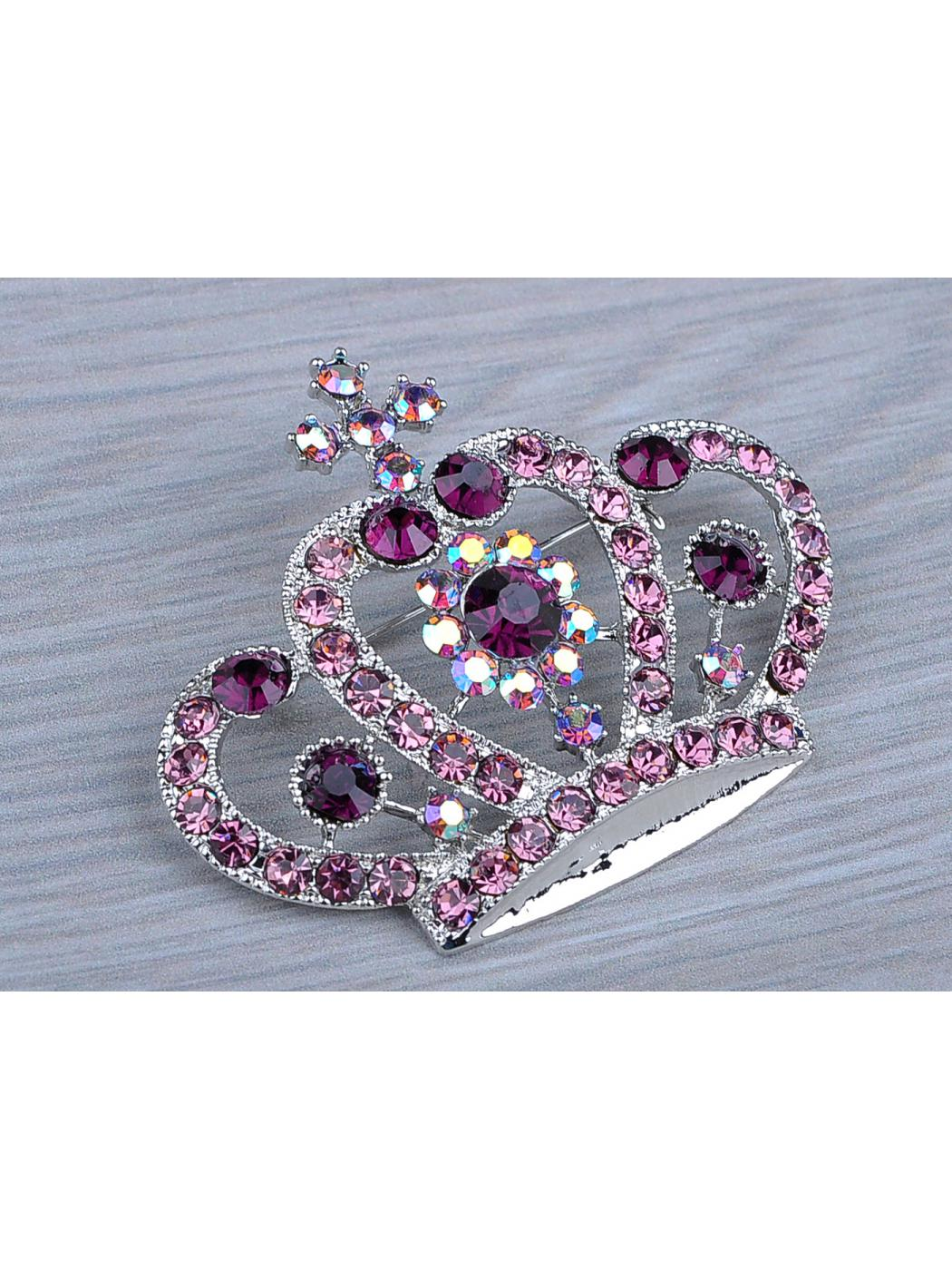 Feinuhan Amethyst Purple Colored Crystal Rhinestone Royal Princess Queen Crown... by